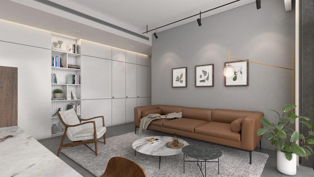 מיקרו ליבינג חלל מרכזי - דירה בסגנון Cortado